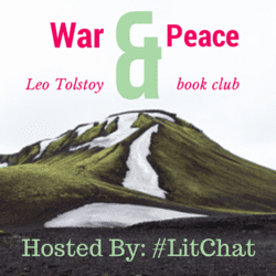 War and Peace Book Club badge created by Jorie in Canva. Photo Credit: Alex Tamon (Public Domain : Unsplash).