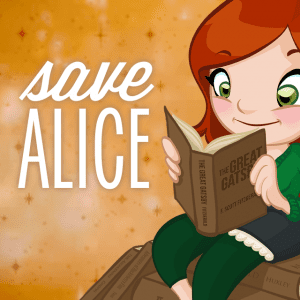 #SaveAlice badge via Classic Alice