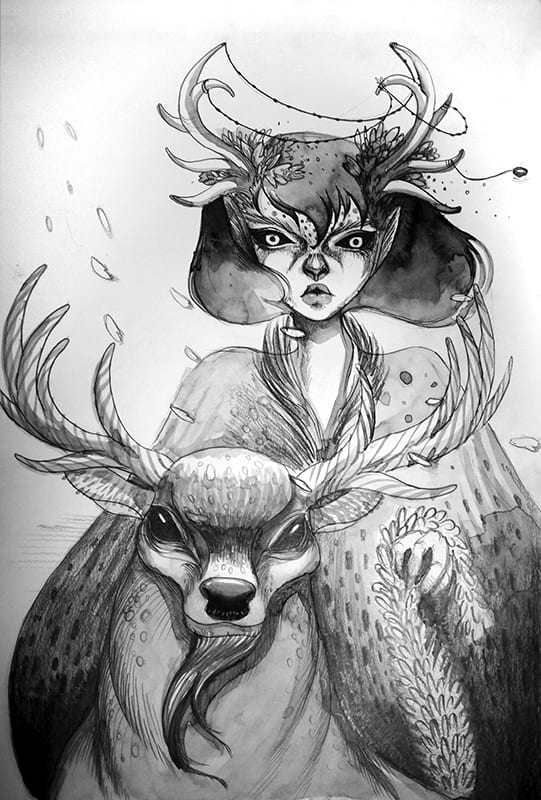Illustration by Anne Rosario from Blue Spirit by E. Chris Garrison