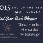 2015 End of the Year Survey badge created by Jorie in Canva.