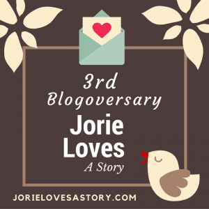 3rd Blogoversary Badge created by Jorie in Canva