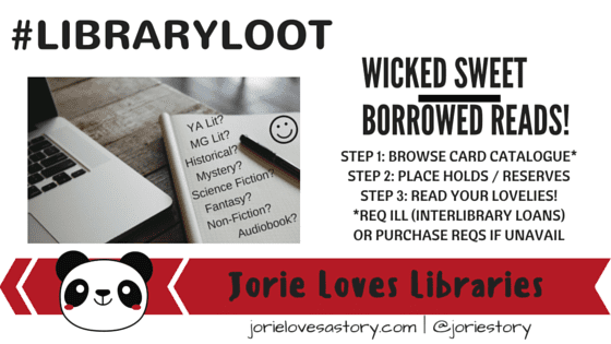 Library Loot badge created by Jorie in Canva.