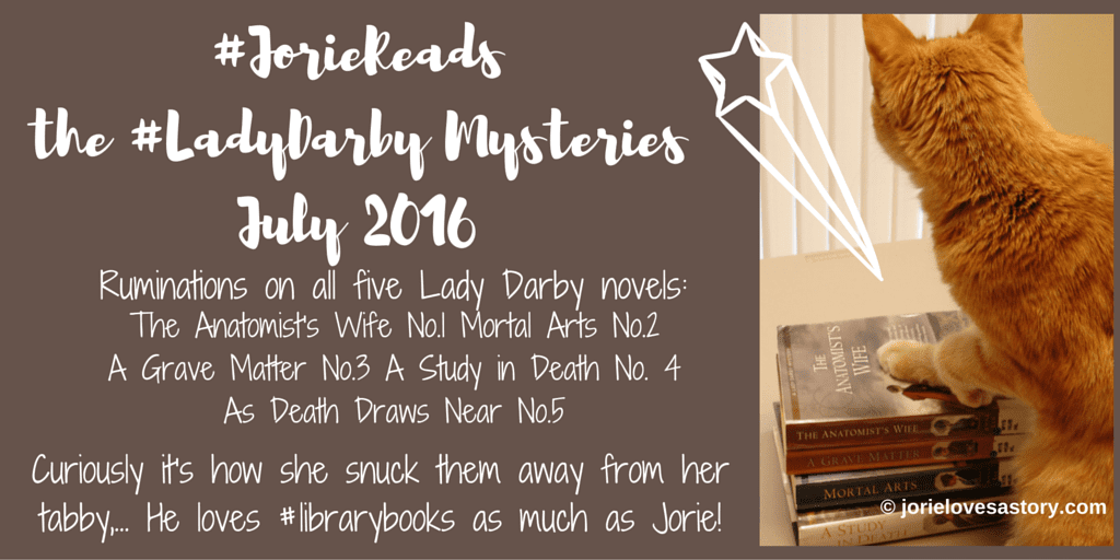 #JorieReads the #LadyDarby series banner created by Jorie via Canva. Book Photography Credit: Jorie of jorielovesastory.com.