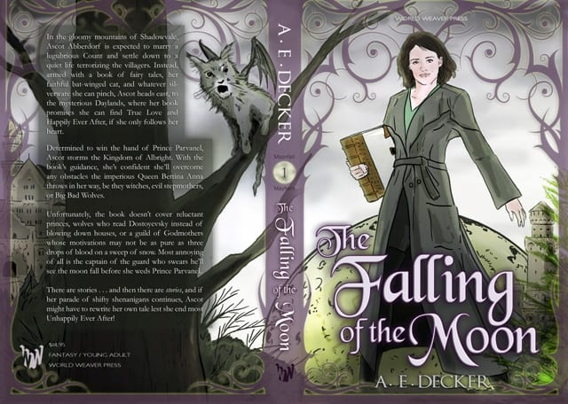 The Falling of the Moon by A.E. Decker (original cover)