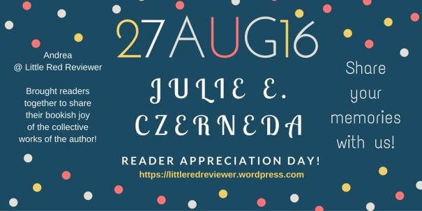 Julie E. Czerneda Appreciation Day badge created by Jorie in Canva.