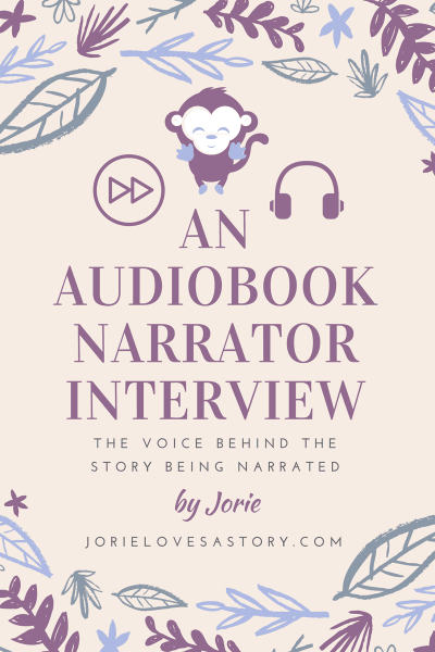 Audiobook Narrator Blog Banner made by Jorie in Canva.