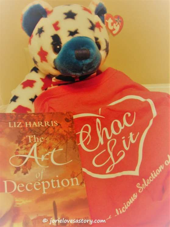 My TY bear & #PocketChocLit. Book Photography Credit: Jorie of jorielovesastory.com.