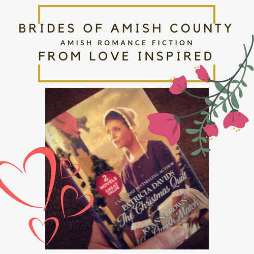 Brides of Amish County series by Patricia Davids Photography Credit: Jorie of jorielovesastory.com. Photo edits and collage created in Canva.
