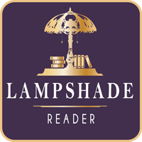 Lampshade Reader badge provided by the blogger and used with permission.