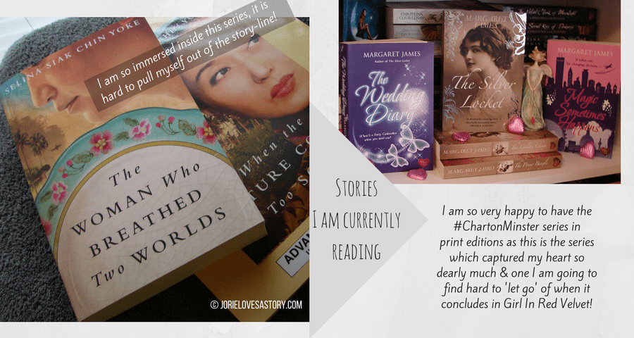 The Malayan series & Charton Minster series bookmail. Book Photography Credit: Jorie of jorielovesastory.com. Photo edits and collage created in Canva.