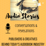 Audio Stories badge createcd by Jorie in Canva.