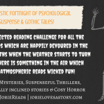 #JorieReads | Spooktastic Fortnight of Psychological #Suspense & #Gothic Tales Personal Reading Challenge!