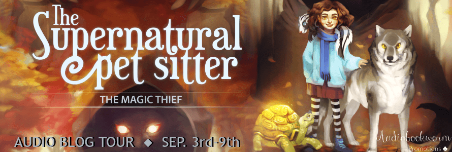 The Supernatural Pet Sitter blog tour hosted by Audiobookworm Promotions