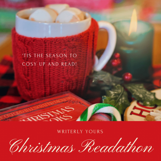 Christmas Readathon graphic provided by Writerly Yours and used with permission.