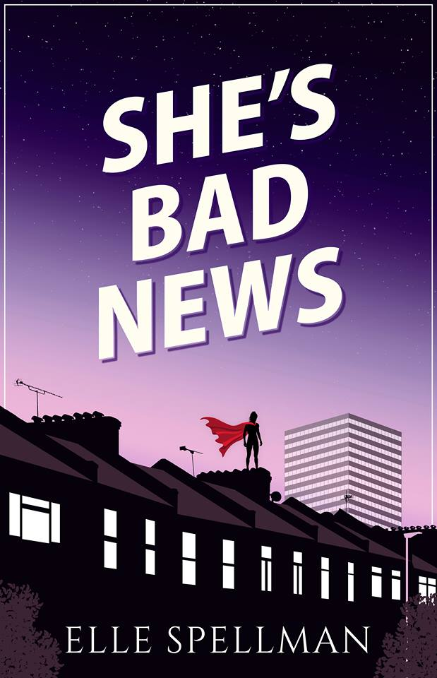 "Author Interview | Jorie discovers there is a new #SuperheroFiction novelist on the horizon: Elle Spellman whilst sharing an extract from her debut ""She's Bad News""!"