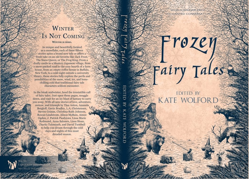 Frozen Fairy Tales anthology (page layout) by World Weaver Press