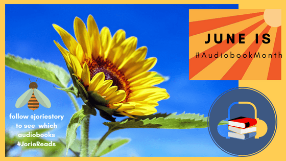 June is Audiobook Month banner created by Jorie in Canva.