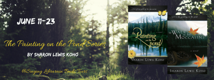 The Painting on the Pond blog tour banner via SLB Tours