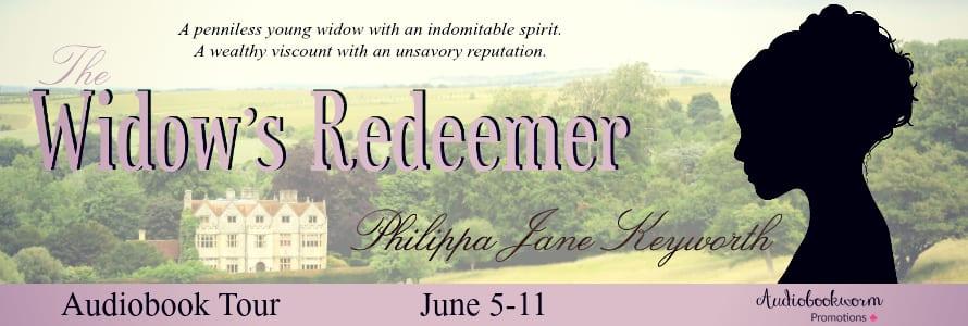 The Widow's Redeemer audiobook blog tour via Audiobookworm Promotions
