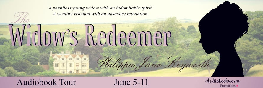 The Widow's Redeemer audiobook blog tour via Audiobookworm Promotions