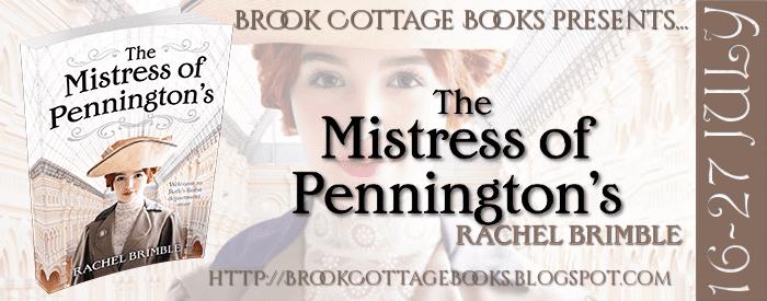The Mistress of Pennington's blog tour via Brook Cottage Book Tours