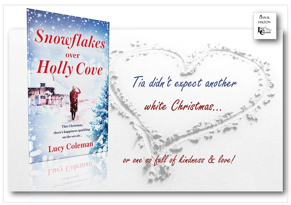 Snowflakes Over Holly Cove promo badge provided by Brook Cottage Books and used with permission.