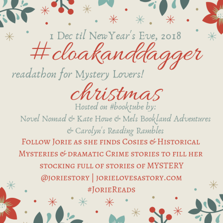 #CloakAndDaggerChristmas badge created by Jorie in Canva
