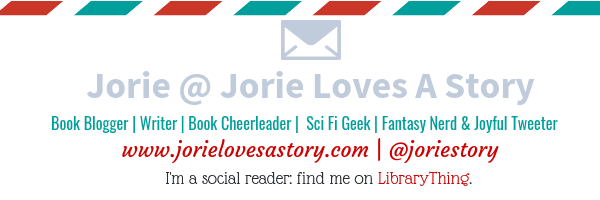 Jorie of Jorie Loves A Story banner created by Jorie in Canva.
