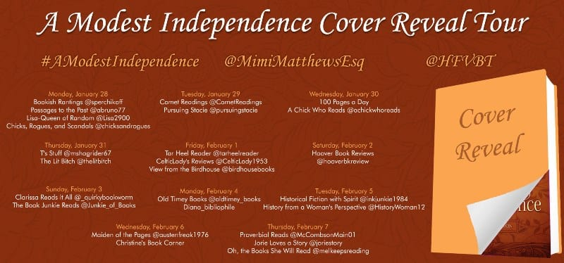 A Modest Independence Cover Reveal tour via HFVBTs