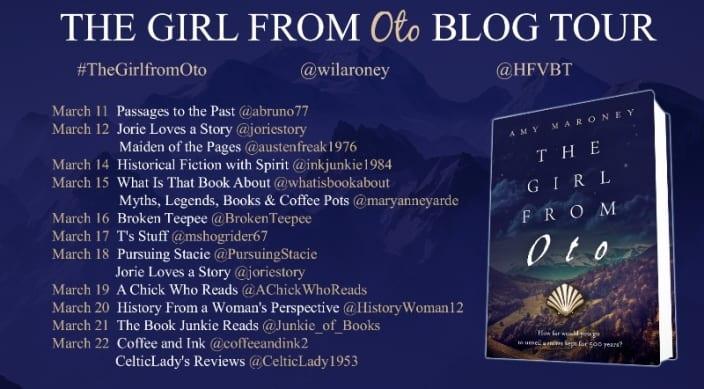 The Girl from Oto blog tour via HFVBTs