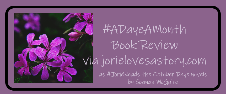 #ADayeAMonth Book Review banner created by Jorie. Photo Credit: Unsplash Photographer Tim Mossholder (Creative Commons Zero)