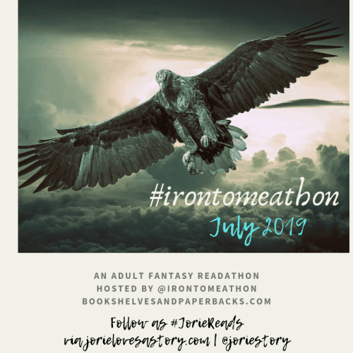 #IronTomeAThon 2019 banner created by Jorie in Canva.