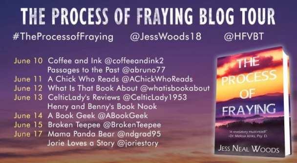 The Process of Fraying blog tour via HFVBTs