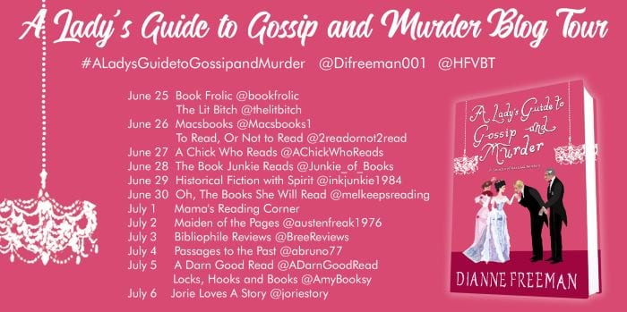 A Lady's Guide to Gossip and Murder blog tour via HFVBTs