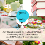 #INSPYJuly banner created by Jorie in Canva.