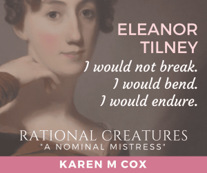 A Nominal Mistress (short story) by Karen M. Cox (part of Rational Creatures anthology) promo banner used with permission.