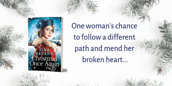 Christmas Once Again promotional banner provided by the author Jina Bacarr. (used with permission)