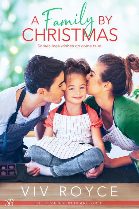 "A #ChristmasReads selection of Jorie's during #blogmas | ""A Family by Christmas"" (Book One: Little Shops on Heart Street series) by Viv Royce"