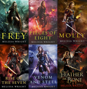 Frey Saga collage featuring stories by Melissa Wright provided by Prism Book Tours.