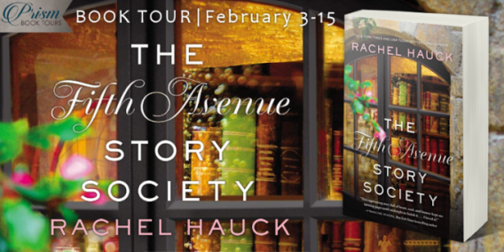The Fifth Avenue Story Society blog tour banner provided by Prism Book Tours.