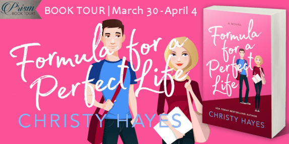 Formula for a Perfect Life blog tour banner provided by Prism Book Tours and is used with permission.