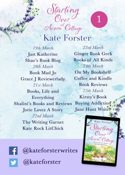 Starting Over at Acorn Cottage blog tour banner provided by Head of Zeus and is used with permission.