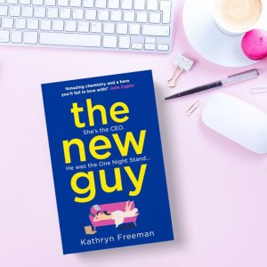 The New Guy promo banner provided by Kathryn Freeman.