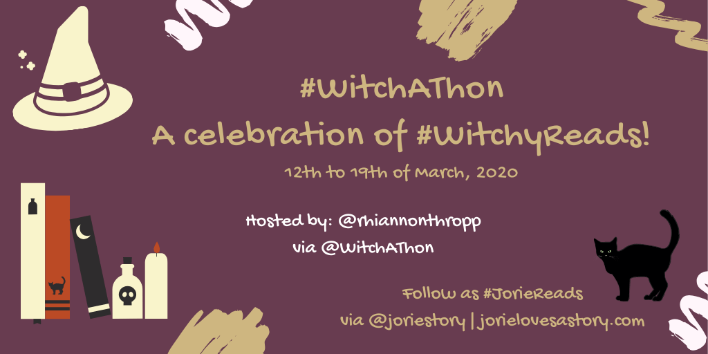 #WitchAThon banner created by Jorie in Canva.