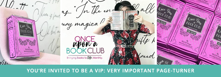 #BookClubVIP banner for influencer team with Once Upon A Book Club was provided by Once Upon A Book Club and is used with permission.