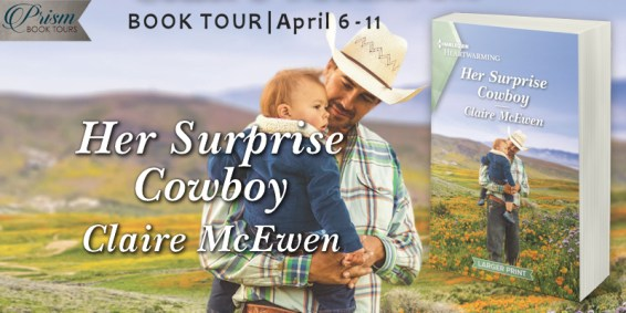 Her Surprise Cowboy blog tour banner provided by Prism Book Tours.