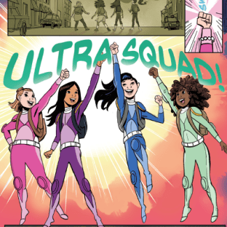 Ultra Squad Characters collage provided by Lola Book Tours.