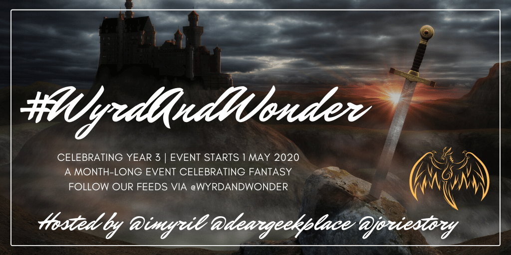 #WyrdAndWonder 2020 event banner created by Jorie in Canva.