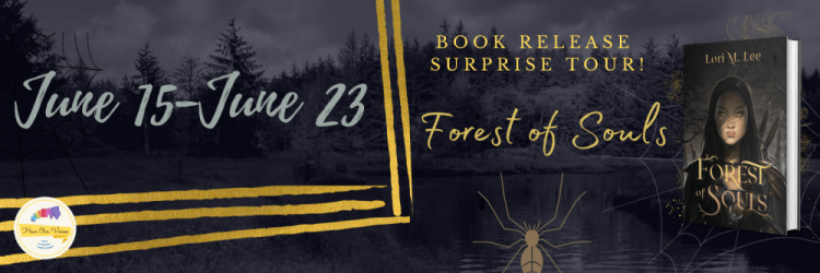 Forest of Souls blog tour banner provided by Hear Our Voices Blog Tours and is used with permission.