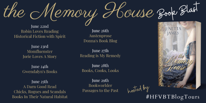 The Memory House book blast banner provided by HFVBTs and is used with permission.